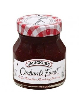 Smucker's orchard's finest preserves strawberry 340g