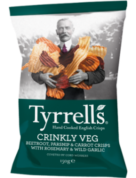 Tyrrells Crinkly Veg 150g