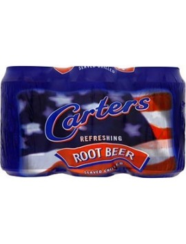 Carters root beer 330ml pack 6 ud