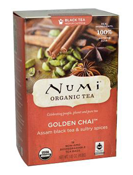 Numi Te Golden Chai  6/18 ct