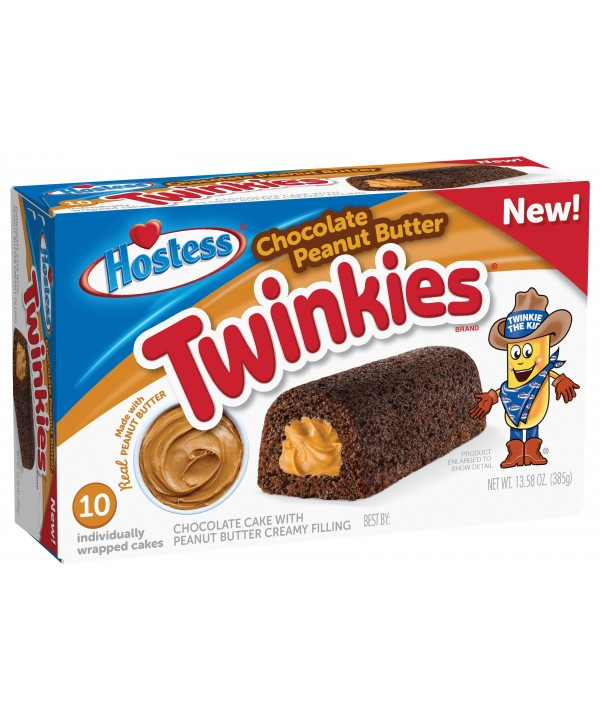 Hostess Twinkies chocolate peanut butter flavour 385 gr