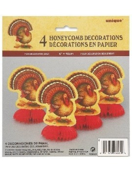 4 Mini Honeycomb Decorations