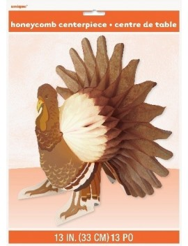 Centro de mesa Thanksgiving cute turkey 15""