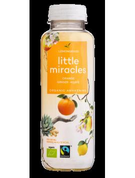 Little Miracles lemongrass tea orange juice ginger ginseng agave 330 ml