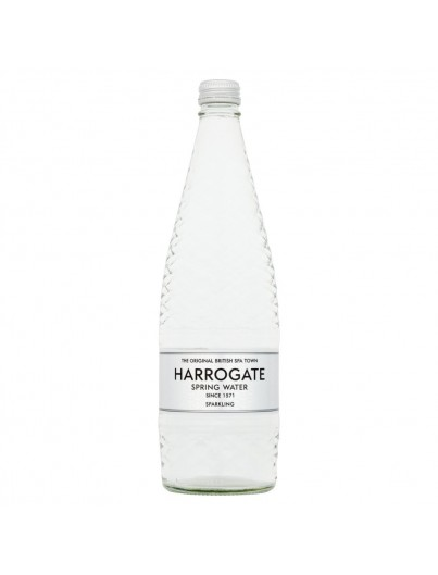 Harrogate Spring Water 750ml Glass Sparkling Flat Cap