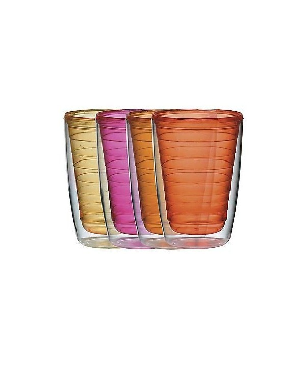 Boston Warehause Set 4 vasos colores con aislante 16oz