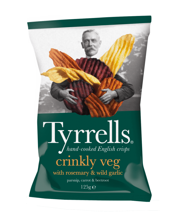 Tyrrells Crinkly Veg rosemary & garlic  125 g