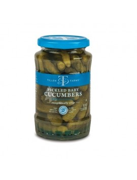 Tillen Farms Pickled baby cucumbers 350 g