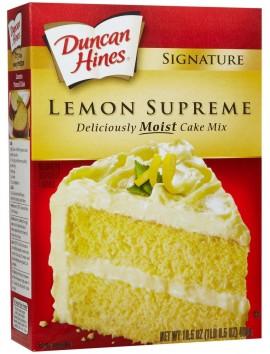 Duncan Hines Lemon Supreme Flavor