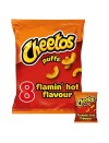 Cheetos puffs 104 g flamin hot flavour family favourites 8 pack x 13 g