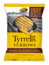 Furrows Cheese & Pickled Onion 150 gr. Tyrrell's