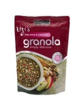 LIZI´S Pink Apple & Cinnamon Granola Simply 400g